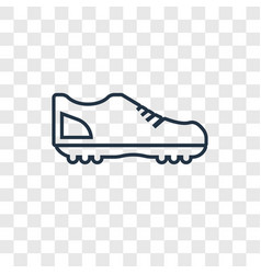 football shoes concept linear icon isolated on vector image