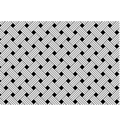 Geometric seamless black and white weave pattern vector