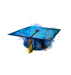 graduation cap square academic cap vector image