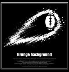 Grunge black american football background vector