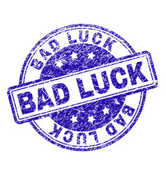 Grunge textured bad luck stamp seal vector