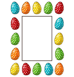 hand drawn easter frame vector image