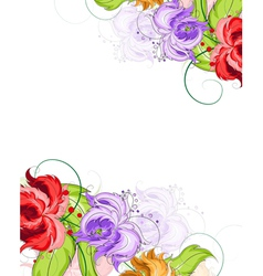 Hand drawn flowers background vector