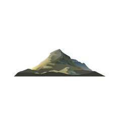 high mountain isolated icon vector image