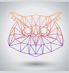 hipster polygonal bird owl triangle animal vector image