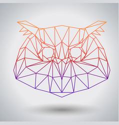 Hipster polygonal bird owl triangle animal vector