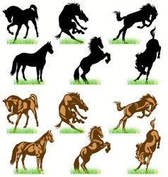 Horses set02 vector