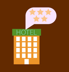 Hotel icon isolated on white background simple vector