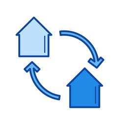 House exchange line icon vector