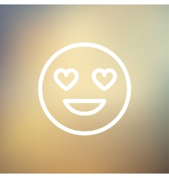 In love thin line icon vector image vector image