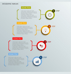 Info graphic with abstract round labels template vector