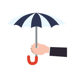 insurance umbrella symbol vector image