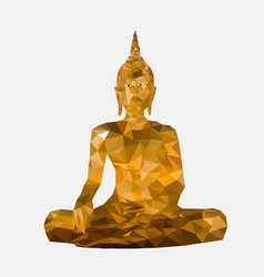 isolated low poly buddha statue vector image