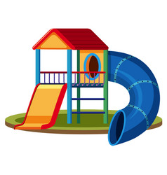 isolated playground house on white background vector image