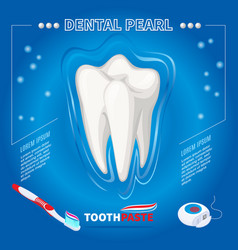 Isometric protection from dental pearl concept vector