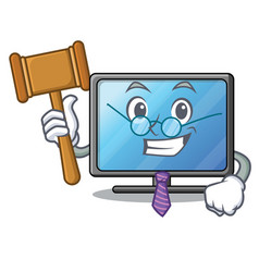 judge lcd tv isolated with the character vector image