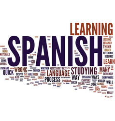 Learn spanish no matter how text background word vector