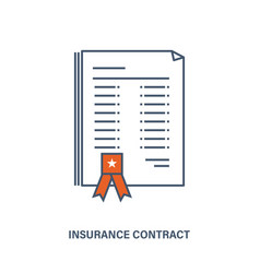 Life insurance contract the provision of services vector