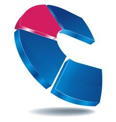Logo c blue vector