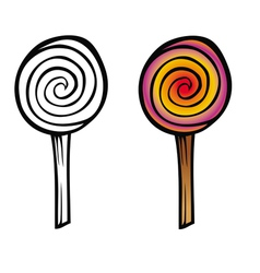 lollipop coloring book vector image