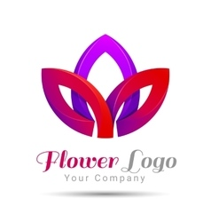 Lotus Logo flower Beauty Fashion template vector image