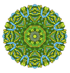 mandala oriental ornament relaxing doodle round vector image