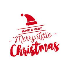 merry christmas calligraphy santa vector image