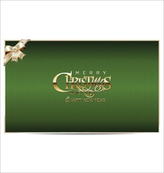 Merry christmas green background vector image vector image