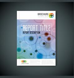 Modern abstract microscopy brochure template vector