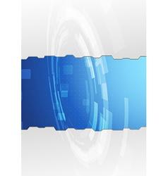 Modern metal folder design - gear vector
