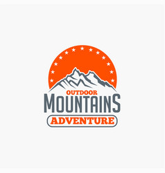 Mountains logo-badge-11 vector
