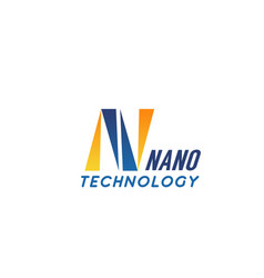 n letter icon for nano technology vector image