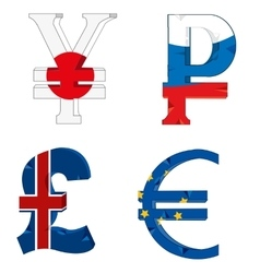 National symbols of the money vector