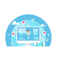 online event e-learning or webinar vector image