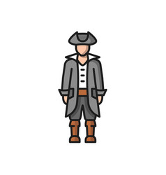 Portuguese man in medieval costume conquistador vector