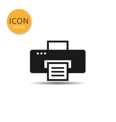 printer icon isolated flat style vector image