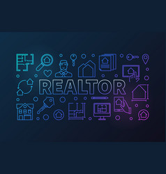 Realtor colored outline or vector