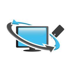 reseller desktop pc logo icon vector image