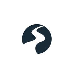 River pathway creek icon logo template design vector