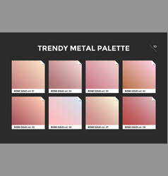 Rose gold gradient template icon vector