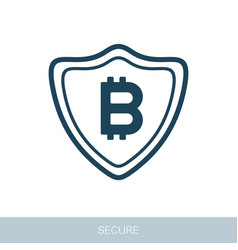 Secured digital internet cryptocurrency bitcoin vector