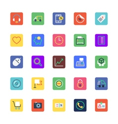 Shopping and eCommerce Colored Icons 3 vector