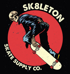 Skull skateboarding vector