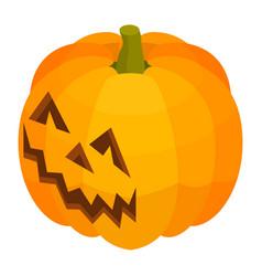 smile pumpkin icon isometric style vector image