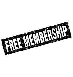Square grunge black free membership stamp vector