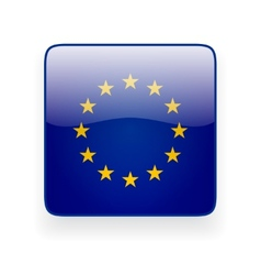 square icon with flag european union vector image