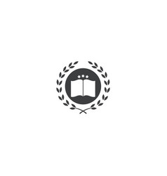 University and book logo design symbol dan icon vector