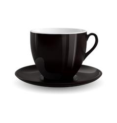 Black Cup vector image
