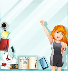 Businesswoman and other accessories vector image vector image