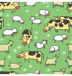 Farm livestock seamless pattern vector image vector image